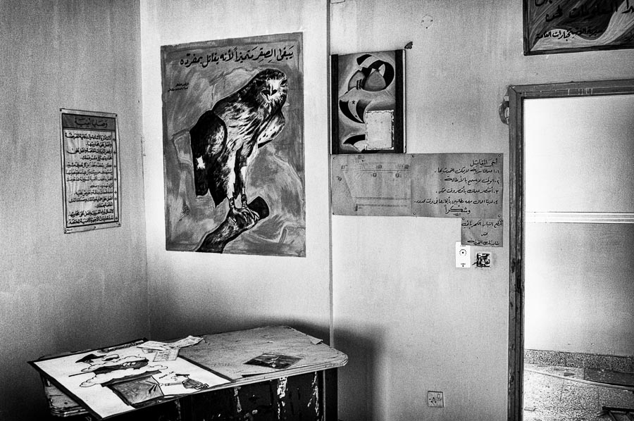 Office, Iraqi Air Force Operations Center, Balad, Iraq : monochrom : TIMOTHY FLOYD PHOTOGRAPHER, NATURE PHOTOGRAPHY, PHOTO ESSAYS, PHOTOJOURNALISM