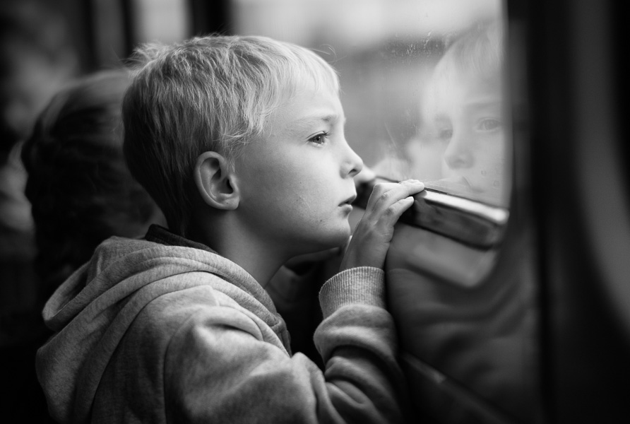 Boy on a train to Selby, UK : monochrom : TIMOTHY FLOYD PHOTOGRAPHER, NATURE PHOTOGRAPHY, PHOTO ESSAYS, PHOTOJOURNALISM