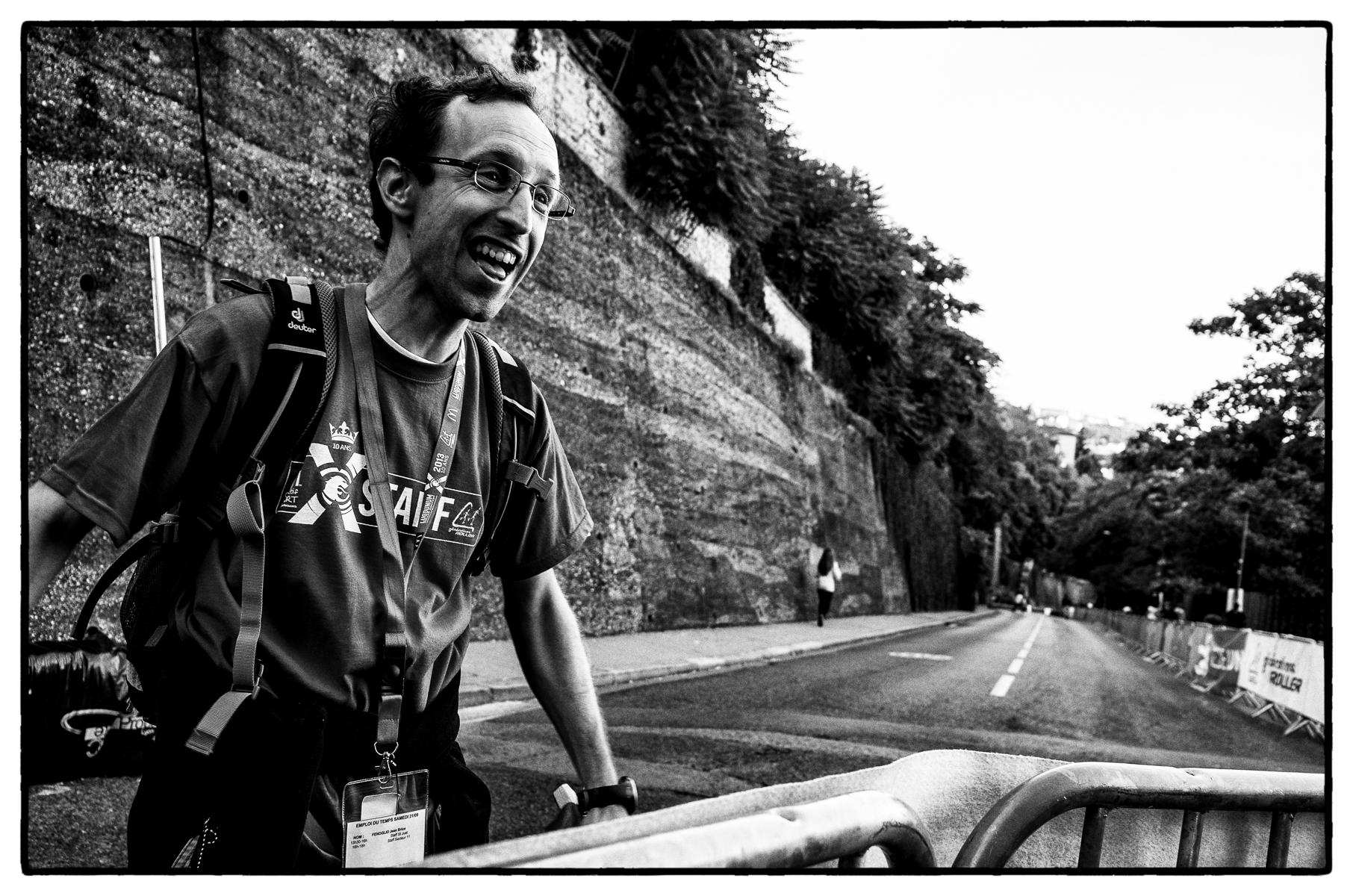 Organizer of In-Line Skating Downhill Race, Lyon, France : street & stories : TIMOTHY FLOYD PHOTOGRAPHER, NATURE PHOTOGRAPHY, PHOTO ESSAYS, PHOTOJOURNALISM