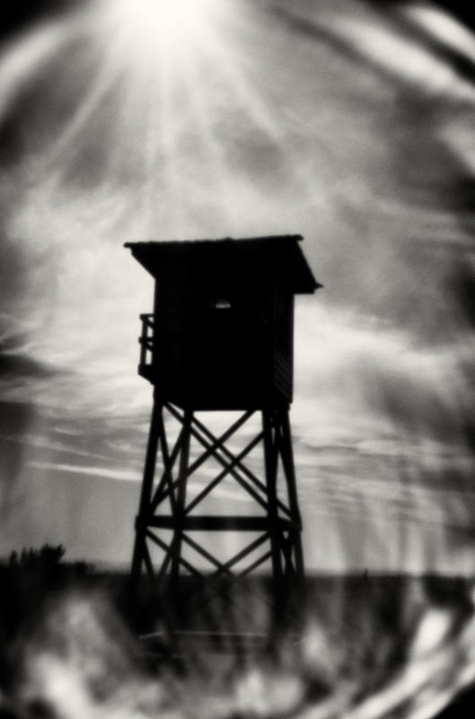 Guard tower at the camp entrance. : Minidoka : TIMOTHY FLOYD PHOTOGRAPHER, NATURE PHOTOGRAPHY, PHOTO ESSAYS, PHOTOJOURNALISM