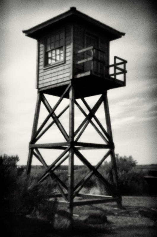 Guard tower at entrance to the camp. : Minidoka : TIMOTHY FLOYD PHOTOGRAPHER, NATURE PHOTOGRAPHY, PHOTO ESSAYS, PHOTOJOURNALISM